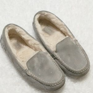 UGG Dove Grey Suede Slippers